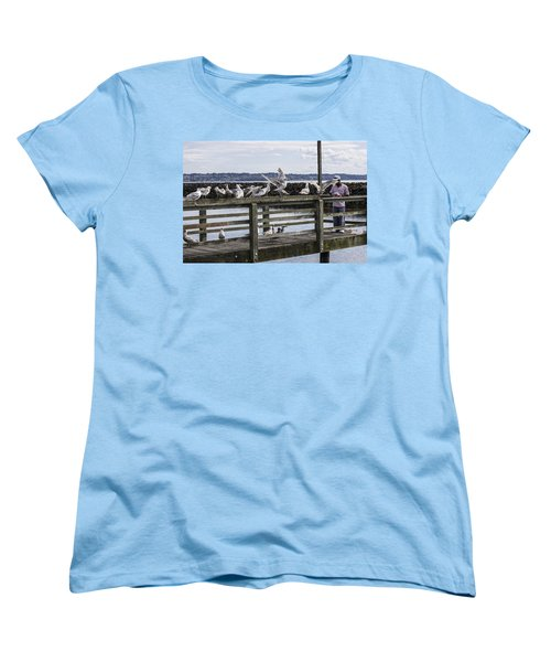 Dinner At The Marina Women's T-Shirt (Standard Cut) by Cathy Anderson