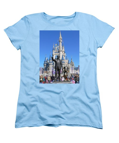 Disney And Mickey Women's T-Shirt (Standard Cut) by Kevin Fortier