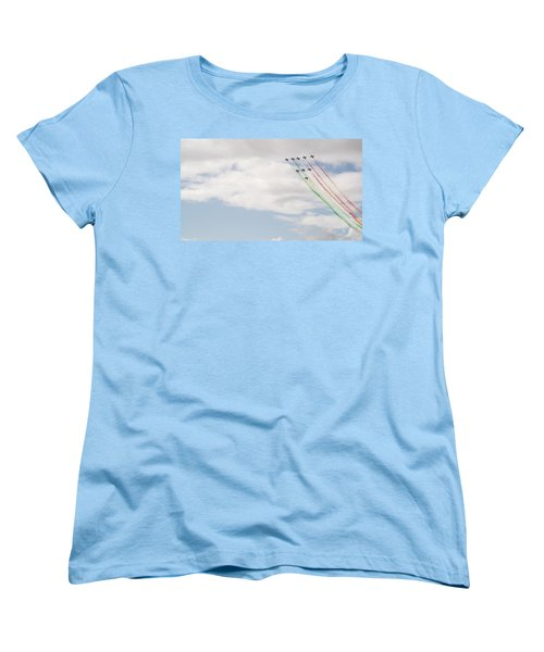 Displaying The Flag Women's T-Shirt (Standard Cut) by Tracey Williams