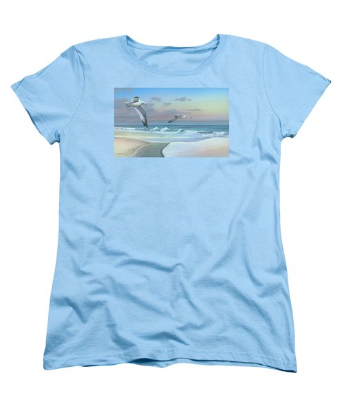 Women's T-Shirt (Standard Cut) featuring the painting Dissolving Time by Mike Brown