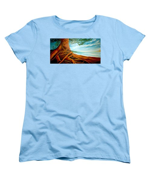 Women's T-Shirt (Standard Cut) featuring the painting Distant Shores Rejoice by Meaghan Troup