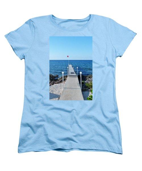 Women's T-Shirt (Standard Cut) featuring the photograph Divers Down by Amar Sheow