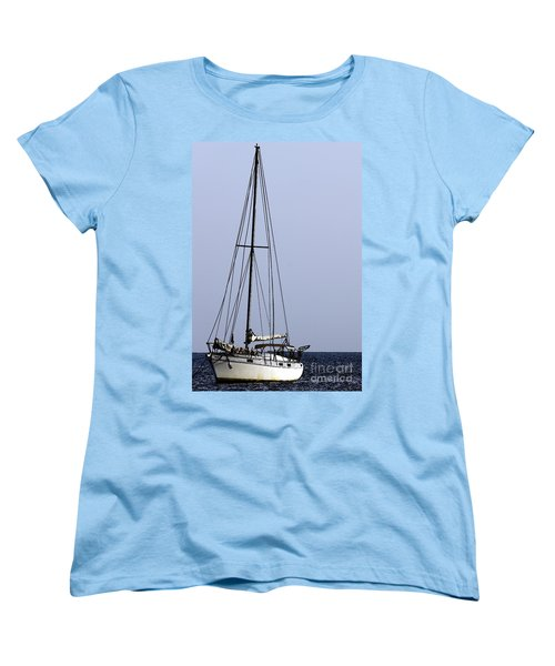 Women's T-Shirt (Standard Cut) featuring the photograph Docked At Bay by Lilliana Mendez