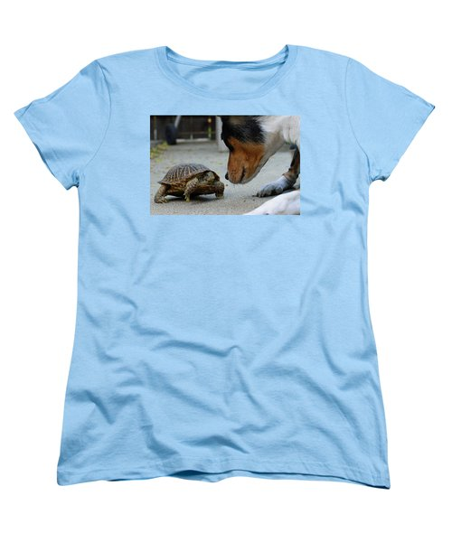 Dog And Turtle Women's T-Shirt (Standard Cut) by Shoal Hollingsworth