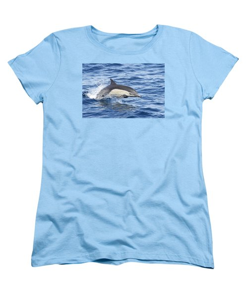 Dolphin At Play Women's T-Shirt (Standard Cut) by Shoal Hollingsworth
