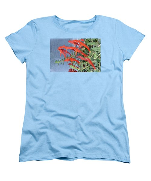 Women's T-Shirt (Standard Cut) featuring the photograph Dolphin Plant by Brenda Brown