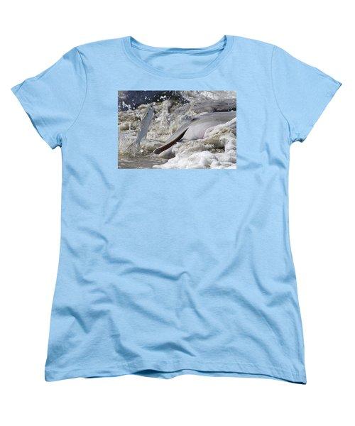 Dolphin Strand Feeding 2 Women's T-Shirt (Standard Cut) by Kevin McCarthy