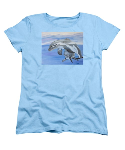 Sublime Dolphins Women's T-Shirt (Standard Cut) by Meryl Goudey