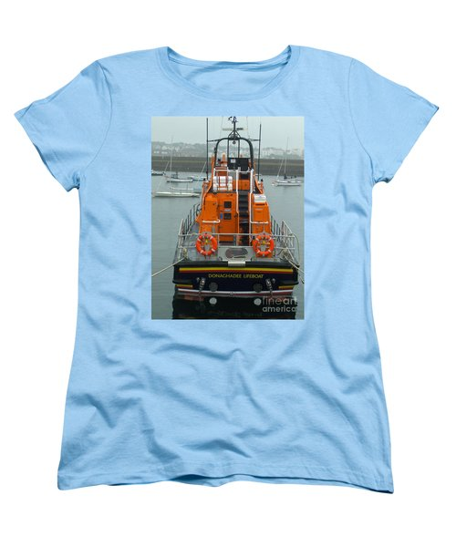 Donaghadee Rescue Lifeboat Women's T-Shirt (Standard Cut) by Brenda Brown