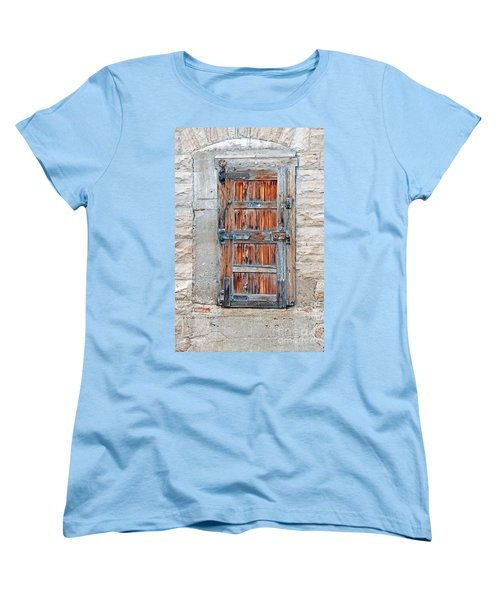 Women's T-Shirt (Standard Cut) featuring the photograph Door Series by Minnie Lippiatt