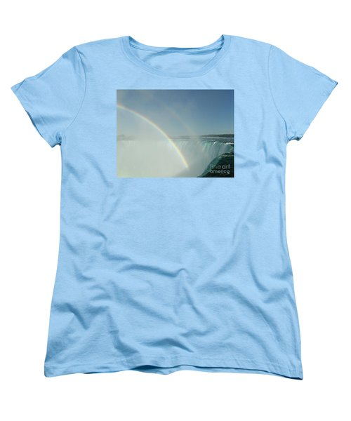 Women's T-Shirt (Standard Cut) featuring the photograph Double Rainbow by Brenda Brown