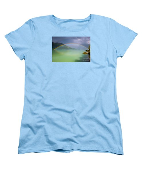 Double Rainbow Women's T-Shirt (Standard Cut) by IPics Photography