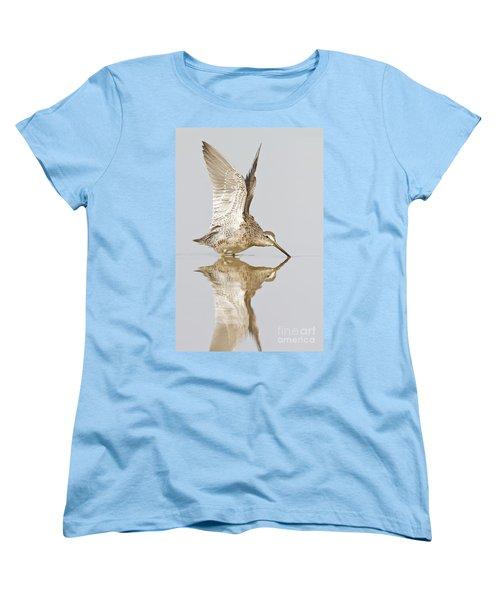 Dowitcher Wing Stretch Women's T-Shirt (Standard Cut) by Bryan Keil