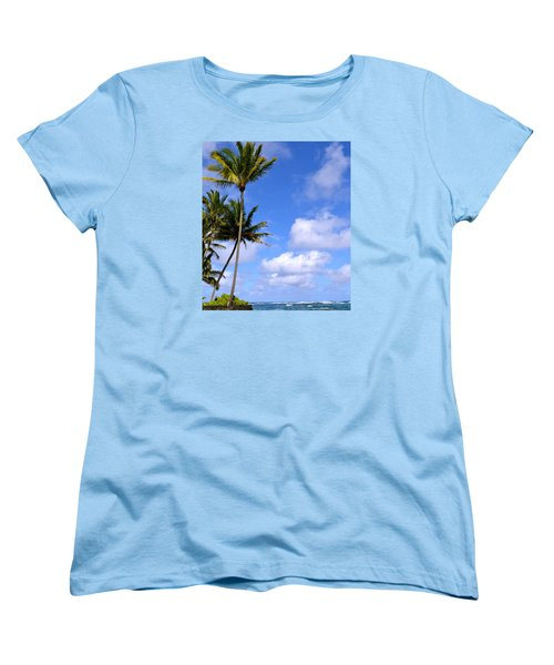 Down By The Ocean In Hawaii Women's T-Shirt (Standard Cut) by Lehua Pekelo-Stearns