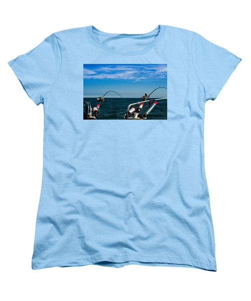 Downriggers Women's T-Shirt (Standard Cut) by James  Meyer