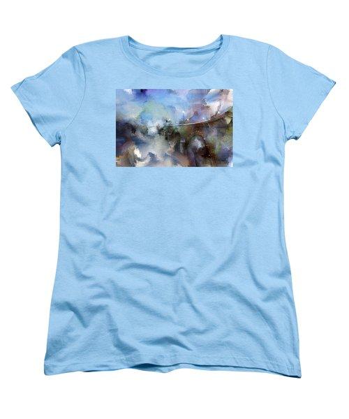 Downtown Bridge Over The Grand Grand Rapids Michigan Women's T-Shirt (Standard Cut) by Evie Carrier