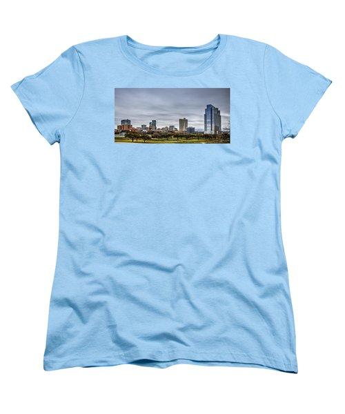Downtown Fort Worth Trinity Trail Women's T-Shirt (Standard Cut) by Jonathan Davison
