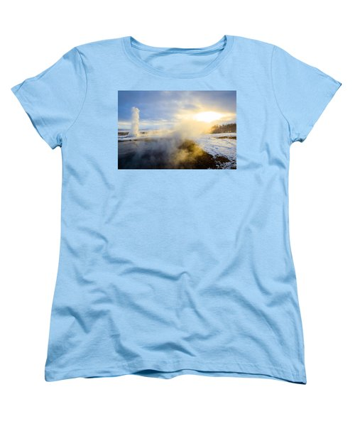 Women's T-Shirt (Standard Cut) featuring the photograph Drawn To The Sun by Peta Thames