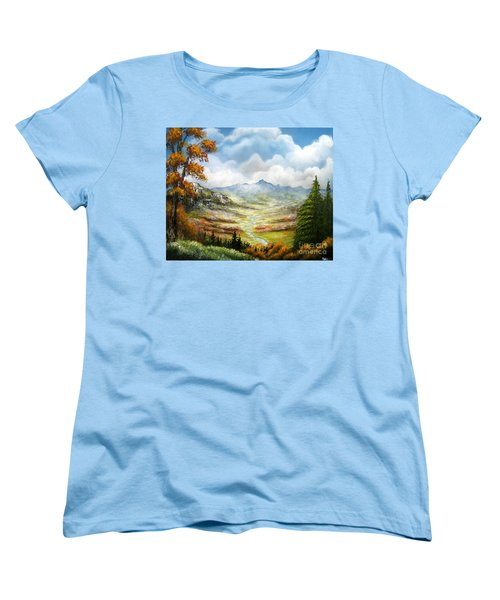 Women's T-Shirt (Standard Cut) featuring the painting Dreamin On by Patrice Torrillo