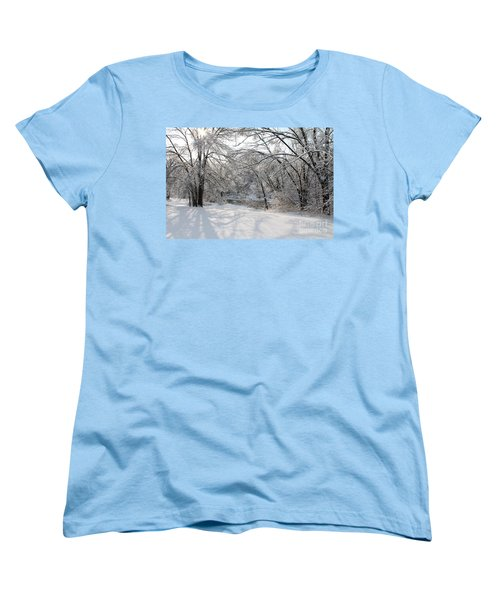 Women's T-Shirt (Standard Cut) featuring the photograph Dressed In Snow by Nina Silver