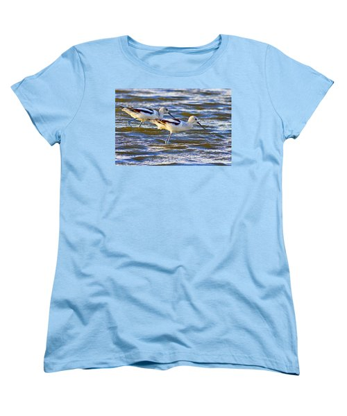Women's T-Shirt (Standard Cut) featuring the photograph Dribbling Contest by Gary Holmes