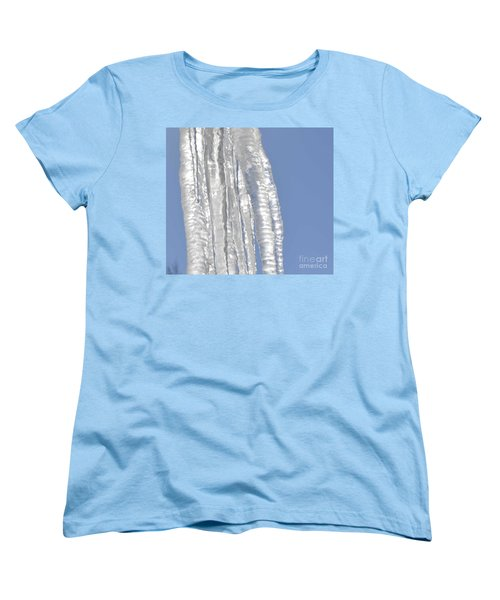 Women's T-Shirt (Standard Cut) featuring the photograph Drip Caught In Action by Luther Fine Art