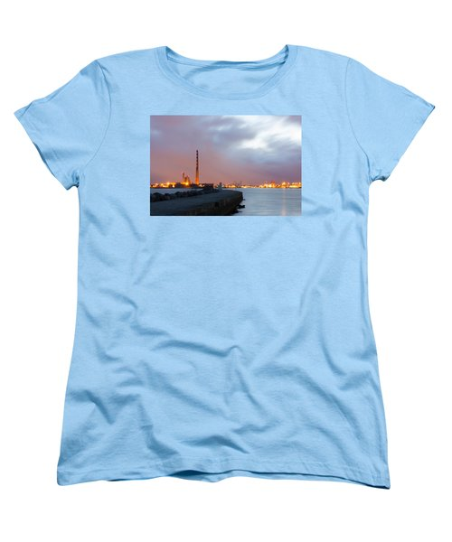 Dublin Port At Night Women's T-Shirt (Standard Cut) by Semmick Photo