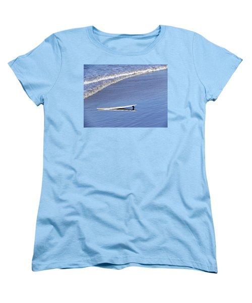 Dude Where Is My Surfer Women's T-Shirt (Standard Cut) by Kathy Churchman