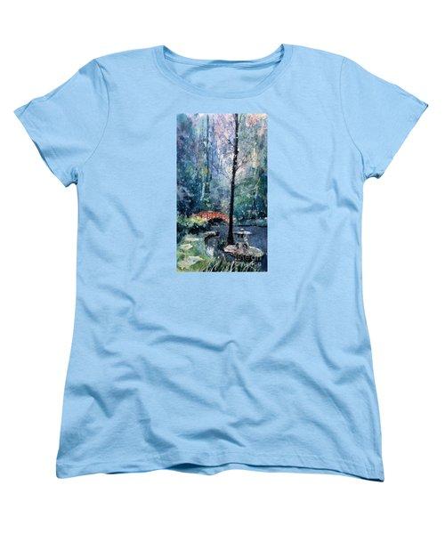 Duke Gardens Watercolor Batik Women's T-Shirt (Standard Cut)