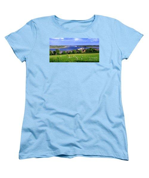 Dundrum Bay In County Down Ireland Women's T-Shirt (Standard Cut) by Nina Ficur Feenan