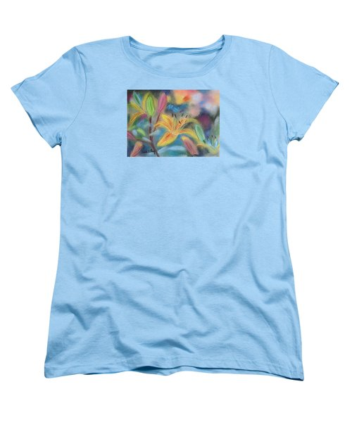 Early Arrival Lily Women's T-Shirt (Standard Cut) by Julie Brugh Riffey