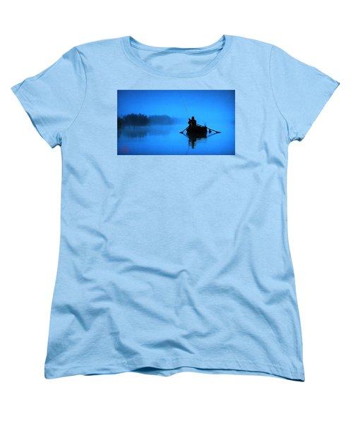 Early Morning Fishing  Women's T-Shirt (Standard Cut) by Colette V Hera  Guggenheim