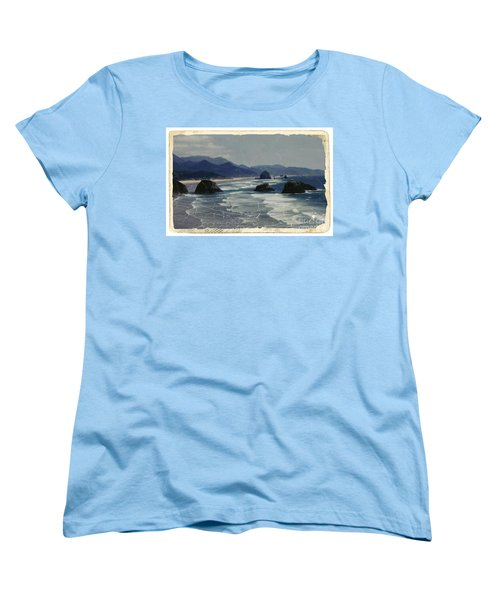 Ecola Sea Stacks Women's T-Shirt (Standard Cut) by Chalet Roome-Rigdon