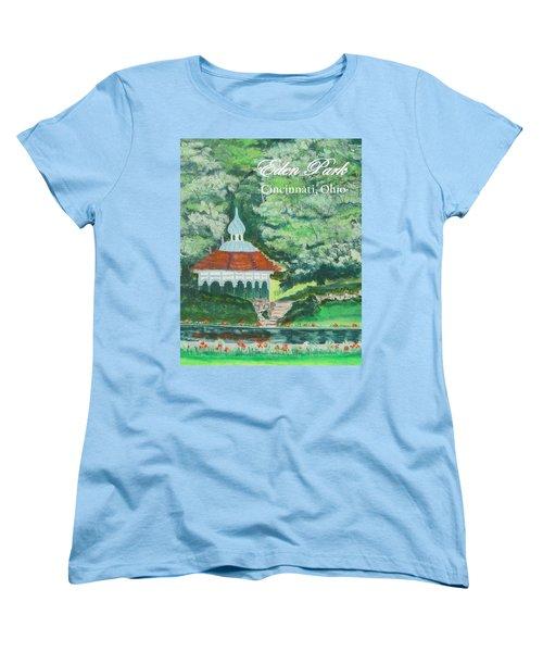 Women's T-Shirt (Standard Cut) featuring the painting Eden Park Gazebo  Cincinnati Ohio by Diane Pape
