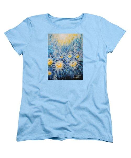 Women's T-Shirt (Standard Cut) featuring the painting Edentian Garden by Holly Carmichael