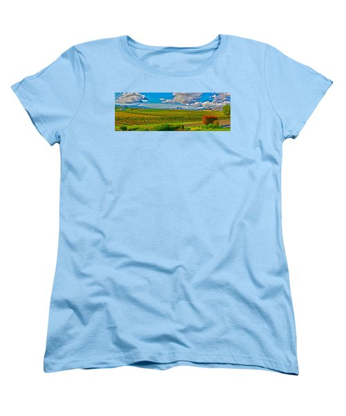 Edna Wineries Ca Women's T-Shirt (Standard Cut) by Richard J Cassato
