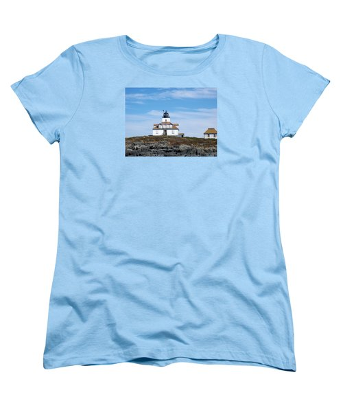 Egg Rock Lighthouse Women's T-Shirt (Standard Cut) by Catherine Gagne