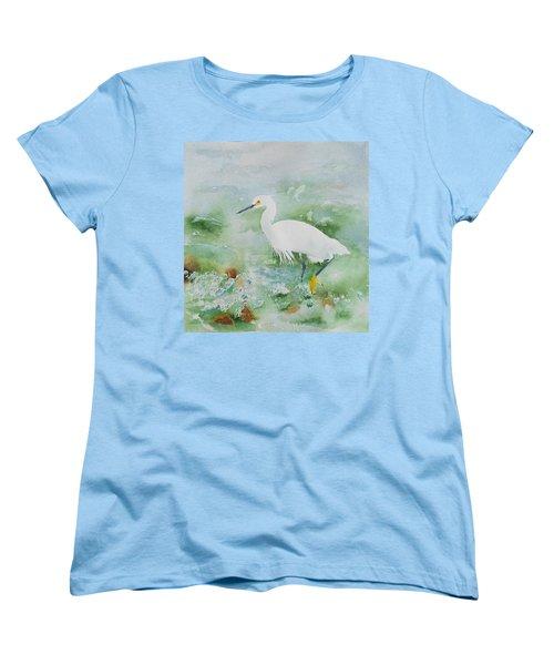 Egret 2 Women's T-Shirt (Standard Cut) by Christine Lathrop