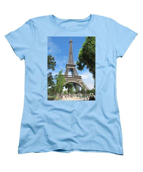Women's T-Shirt (Standard Cut) featuring the photograph Eiffel Tower - 1 by Pema Hou