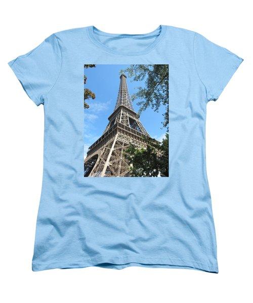 Women's T-Shirt (Standard Cut) featuring the photograph Eiffel Tower - 2 by Pema Hou