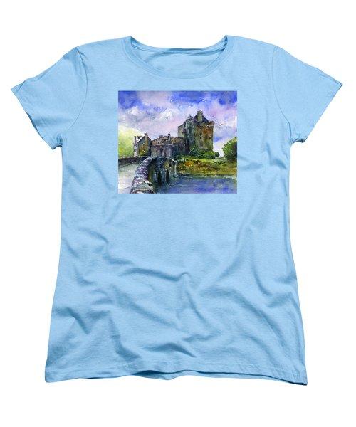 Eilean Donan Castle Scotland Women's T-Shirt (Standard Cut) by John D Benson
