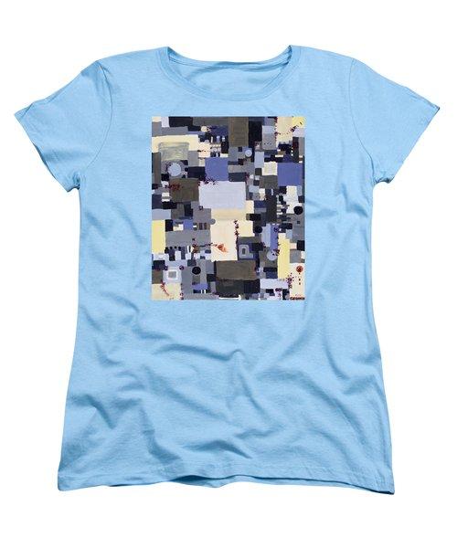 Elastic Dialog Women's T-Shirt (Standard Cut) by Regina Valluzzi