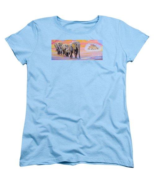 Elephant Fantasy Must Open Women's T-Shirt (Standard Cut) by Phyllis Kaltenbach