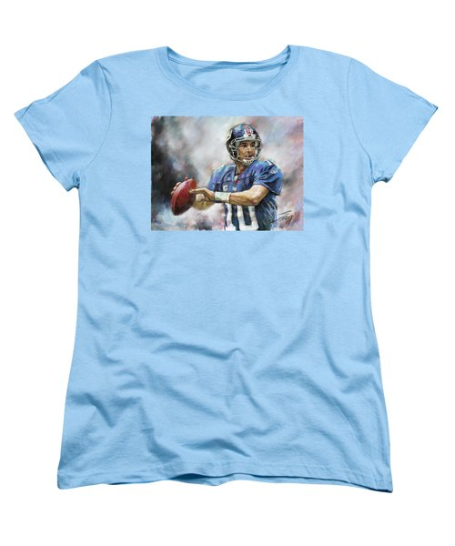 Eli Manning Nfl Ny Giants  Women's T-Shirt (Standard Cut) by Viola El