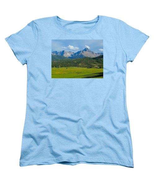 Elk Below Mount Sneffels Women's T-Shirt (Standard Cut) by Dan Miller