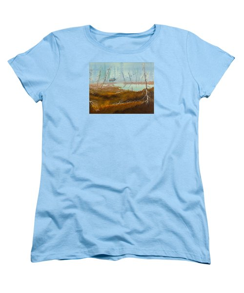 Elk Swamp Women's T-Shirt (Standard Cut) by Richard Faulkner
