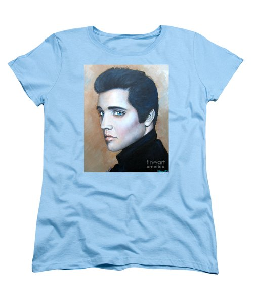 Women's T-Shirt (Standard Cut) featuring the painting Elvis by Patrice Torrillo
