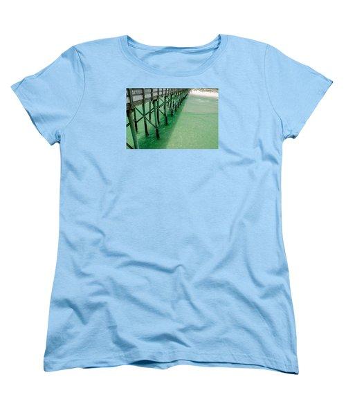 Women's T-Shirt (Standard Cut) featuring the photograph Emerald Green Tide  by Susan  McMenamin
