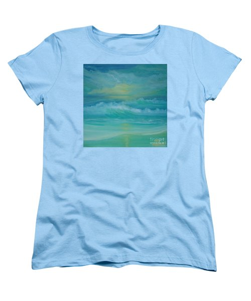 Emerald Waves Women's T-Shirt (Standard Cut) by Holly Martinson