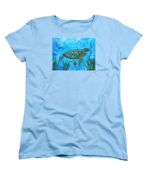 Emotional Healing With The Sea Turtle Women's T-Shirt (Standard Cut)